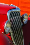 Car Detail Prints - Ford Roadster Grille Print by Jill Reger