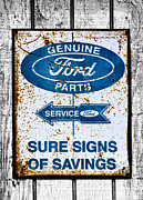 Sure Posters - Ford Sign Poster by Karen M Scovill