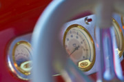 Gold Ford Photos - Ford Speedometer by Jill Reger