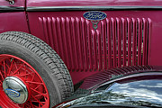 Motor Vehicles Prints - Ford T V8 1928 hood and spare wheel. Miami Print by Juan Carlos Ferro Duque