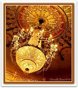 Historical Chandeliers Posters - Ford Theater Candelier Poster by Danielle  Parent