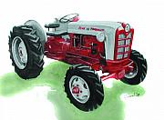 Ford Paintings - Ford Tractor by Ferrel Cordle