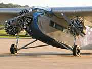 Airplane Radial Engine Photos - Ford Trimotor by Tim Mulina