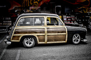 Ron Roberts Photography Prints Framed Prints - Ford Woody Wagon Framed Print by Ron Roberts