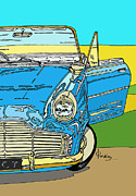 Reflections Mixed Media Originals - Ford Zephyr by Zbigniew Rusin