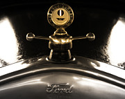 Vintage Hood Ornaments Prints - Fords Beauty Print by Steven  Digman