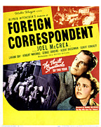 Mccrea Framed Prints - Foreign Correspondent, Joel Mccrea Framed Print by Everett