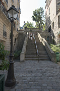 Foreshortening Posters - Foreshortening of Montmartre with Street Lamp and Staircase Poster by Fabrizio Ruggeri