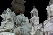 Fontain Metal Prints - Foreshortening of Piazza Navona Metal Print by Fabrizio Ruggeri