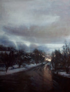 Streetscape Paintings - Forest Avenue - Plowed by Sarah Yuster