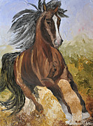 Impressionistic Horse Paintings - Forest Dancer by Michael Lee