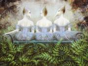 Surrealistic Painting Prints - Forest Divas Print by Lolita Bronzini