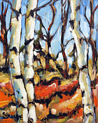 Canadian Artist Painter Painting Originals - Forest Edge by Prankearts by Richard T Pranke