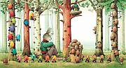Easter Eggs Framed Prints - Forest Eggs Framed Print by Kestutis Kasparavicius