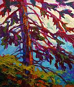 Tree Art Paintings - Forest Elder by Marion Rose