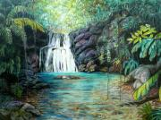 Tropical Pastels - Forest Falls by Karin Best