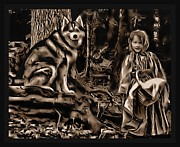Forest Fantasies Print by Tisha McGee