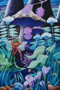 Make Believe Painting Posters - Forest Fantasy-sold Poster by Lou Cicardo