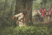Reenactor Framed Prints - Forest Fight Framed Print by Randy Steele