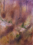 Forest Floor Painting Posters - Forest Floor Poster by Debbie Homewood