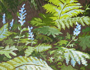 Forest Floor Painting Posters - Forest Floor Poster by Sandy Tracey