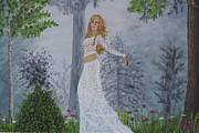 Shakira Painting Prints - Forest Frolic Print by William Ohanlan