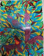 Paint Glass Art - Forest glass paint by Suja Mithun