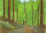 New York Pastels Posters - Forest Poster by Jackie Irwin