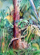 Florida Drawings - Forest Magic by Mindy Newman