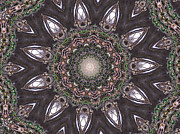 Nature Center Prints - Forest Mandala 1 Print by Rhonda Barrett