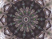 Mandalas Digital Art - Forest Mandala 3 by Rhonda Barrett