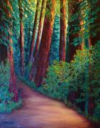 Pathways Painting Originals - Forest Path by Carla Stein