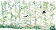Crows Paintings - Forest Pause by Rod MacIver