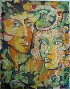 Picture Tapestries - Textiles Originals - Forest People by Nadejda Lilova