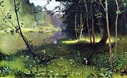 Russia Paintings - Forest River by Pg Reproductions