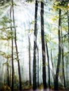 Hanne Lore Koehler Print Paintings - Forest Sentinels by Hanne Lore Koehler