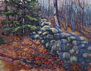 Stonewall Painting Originals - Forest Wall by Ken Fiery