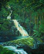 Jennifer Christenson - Forest Waterfall