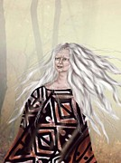 Crone Goddess Metal Prints - Forest Whisperer Metal Print by Linda Marcille