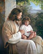 Little Girl On His Lap Posters - Forever and Ever Poster by Greg Olsen