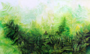 Garden Paintings  Acrylic Prints - Forever Ferns by Hanne Lore Koehler