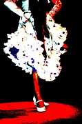 Dance Shoes Posters - Forever Flamenco Poster by Sophie Vigneault