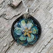 Boro Jewelry - Forever in Love Lily Borosilicate Implosion Pendant by Paula McDonough