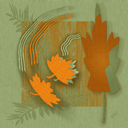Leaf Collage Prints - Forever Leaves Print by Ben and Raisa Gertsberg