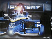 Indy Car Painting Framed Prints - Forever Moore Framed Print by Gordon Paterson