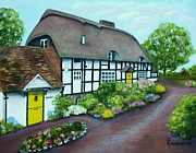 Cottages In England Prints - Forge Cottage Print by Kay Mashburn