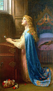 Cloak Painting Framed Prints - Forget me Not Framed Print by Arthur Hughes