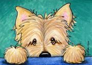 Cairn Terrier Prints - Forget Me Not Cairn Print by Kim Niles