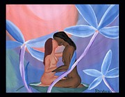 Embrace Paintings - Forget Me Not by Lisa Orban