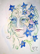Forget Me Not Paintings - Forget Me Not by Robin Monroe